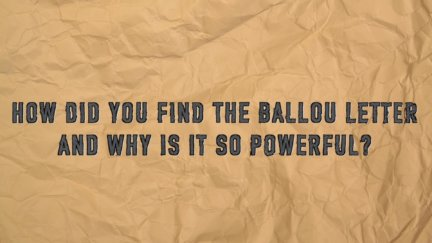 Q & A: The Sullivan Ballou Letter